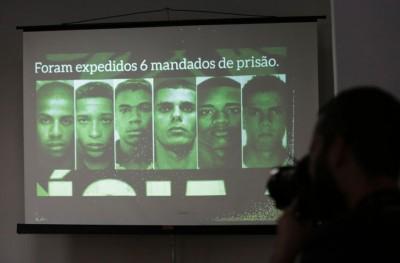 警方展示6名嫌犯犯照片。
