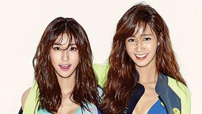 少时Yuri(右)的表妹Vivian(左)一开始人气最高。