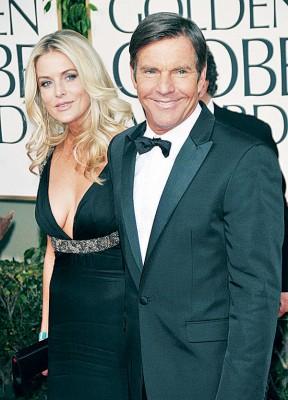 62岁的好莱坞男星丹尼斯奎德与第3任妻子金柏莉决定分道扬镳。