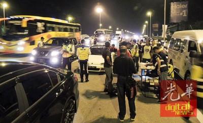 交通调查及执法部展开为期2周的北部开斋节交通安全路检。