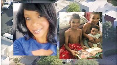 罗杰斯(左)涉嫌杀死3名幼子(右)。