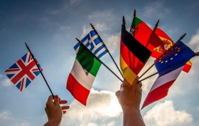 欧盟可能会在英国脱欧后,剔除英语作官方语言。(法新社照片)