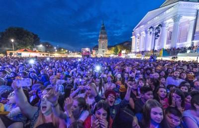 达姆施塔特上周起一连四上举行一年一度的巨型露天音乐节。(法新社照片)