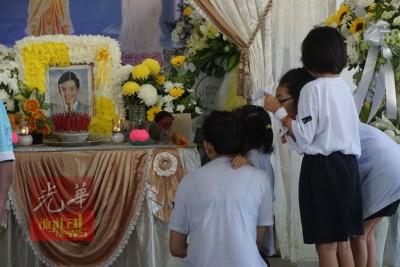 陈俊锝周四在双溪大年住家举殡。