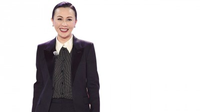 刘嘉玲出席《我们来了》发布会。