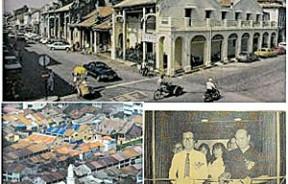 乔治市的强项有赖于其反映多元文化特征的数千间东南亚最大的古迹建筑。良好保存,风格独特的古迹建筑,有助于被列入世界遗产名录。首长许子根博士于1992年为华堂图书馆七周年馆庆及书展主持开幕 ,右为骆经宗。