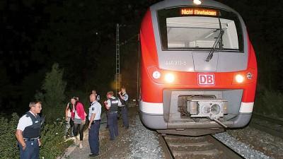 德国一列火车周二晨发生狂徒乱斩人案。