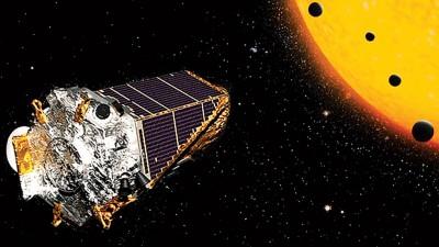 开普勒太空望远镜发现多颗新行星。(NASA图片)
