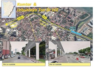 槟城比较适合向高发展的公交系统,如轻快铁和单轨火车,这类系统不会与汽车争道,也不受交通阻塞影响,可安全快速的抵达目的地。图为光大通往林苍祐大道轻快铁的高架构想图。