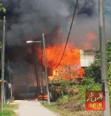 火患发生现场。