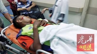 新晋交警莫哈末安南斯依玛执行任务时被撞,受伤入院。