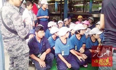 15名非法入境女子遭扣捕调查。