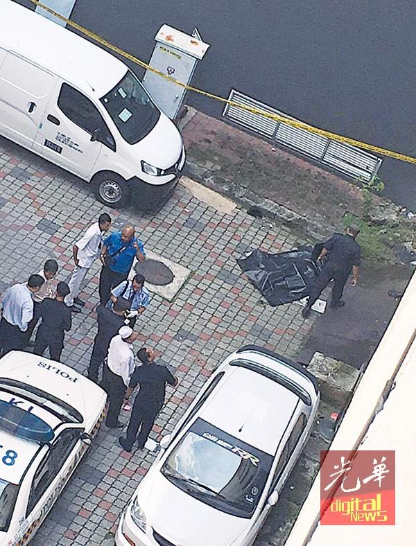 警员及医护人员,案发后到场了解情况。