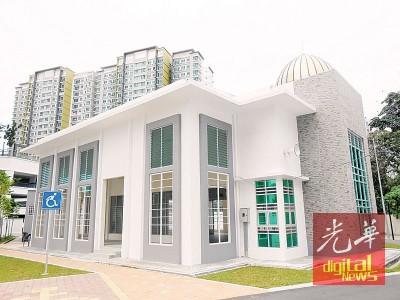 全槟最大穆斯林祈祷室在新港矗立起来了。