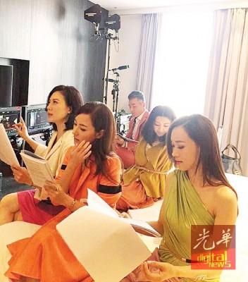 (右起)杨思琦、刘心悠、张可颐、李铭顺及卫诗雅已经抵槟拍摄。(照片取自焦媛脸书)