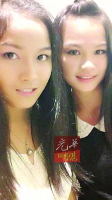 2名同窗好友邓妙萍(左)和陈欣仪(译音)目前仍在私人医院接受观察。