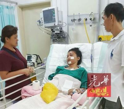 邓福华和曾玉珍对幼女遭遇意外事件,深感无助和心疼。
