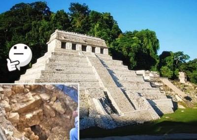 考古学家在碑文神殿发现地下水道(小图)。
