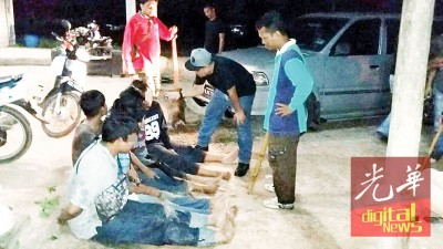 数名道友在扫荡行动中被扣捕。