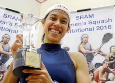 妮歌大卫在女子壁球邀请赛成功封后,喜迎本赛季首个冠军。
