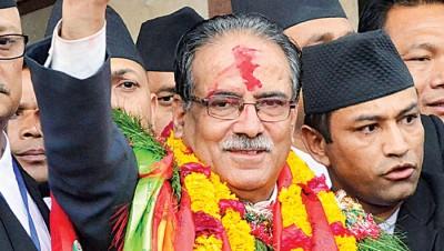 普拉昌达再度成为尼泊尔总理。(法新社照片)