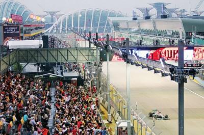 印尼警方指有ISIS成员企图袭击滨海湾的F1比赛场地。(档案照)