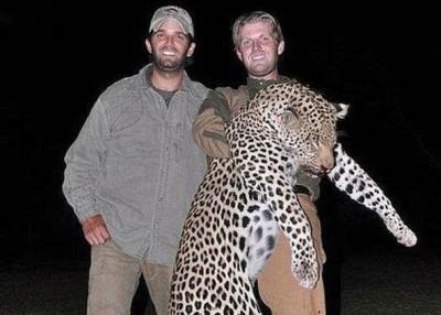 唐纳德(左)以及埃里克(右)爱狩猎。