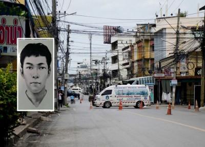 普吉警方发表疑犯画像(小图),华欣仍充满紧张气氛。