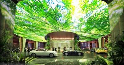热带雨林位于酒店的空中平台。