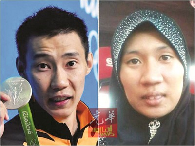 李宗伟及依卡莎瓦妮的肖像在网络疯传。