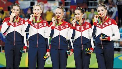 俄罗斯姑娘实现奥运会艺术体操集体项目5连冠。