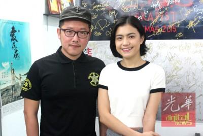陈群英的导演兼经纪人何晋亿及本地艺人陈郡君也不忘为陈群英说话加油。