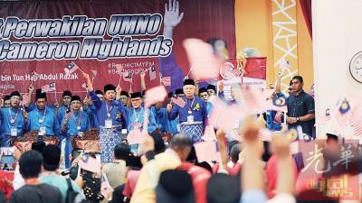 首相纳吉周六也巫统金马仑区代表大会开幕时,啊地方居民捎来3起好消息。
