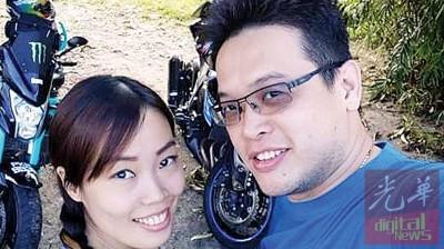 林汶发与陈美琦这一对夫妻皆是超级摩托车发烧友。