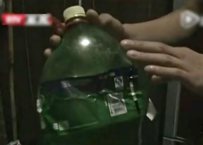 用来酿制葡萄汁的瓶子变形。