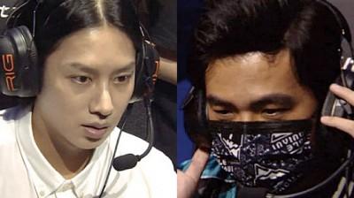 《英雄联盟》亚洲明星对抗赛,金希澈(左)对上周杰伦。