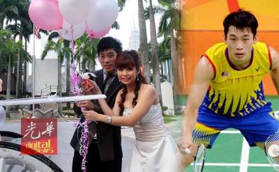 陈炳顺赢得美人归,在吉隆坡塔举行婚礼,羡煞旁人。(档案照)