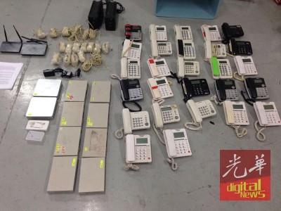 派出所起获大批之报道器材。