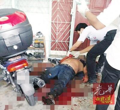 抢救人员也伤者止血急救。