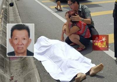 赶往车祸现场的黄伟淞和母亲面对噩耗悲伤痛哭。