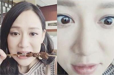 陈乔恩应粉丝要求直播吃美食,特写眼睛驳斥动刀传闻。