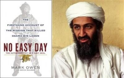比索内迪以假名出书讲述击杀奥萨玛(右图)经过。