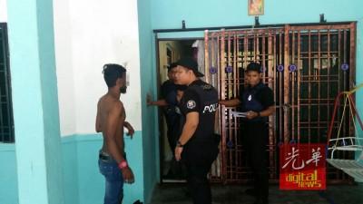 柔州警方连日展开特别行动,逮捕疑似黑帮成员。