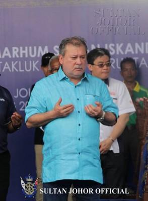 柔佛苏丹依布拉欣殿下因胸口疼痛,被送往新加坡进行血管成形术,目前情况稳定及良好。