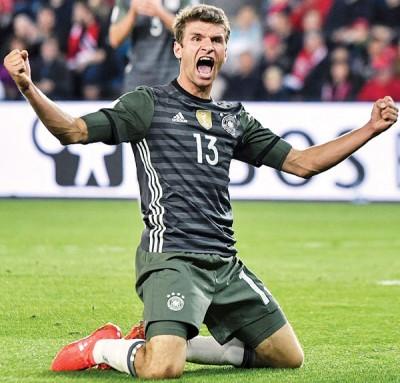 穆勒大爆发,带领德国3球完胜挪威。
