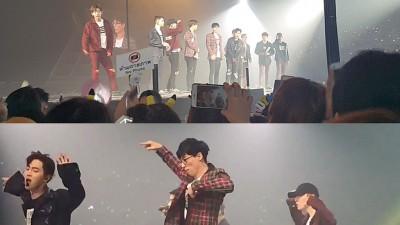 """刘在锡(吃)上上""""EXO""""泰国演唱会舞台,同团员们一道嗨跳新歌。"""