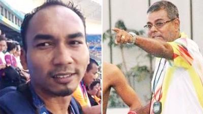 沙鲁安里(左)拿可取得22万令吉教练奖励。R贾格纳坦(右)铸就有大马首位残奥金牌得主莫哈最终里祖安。
