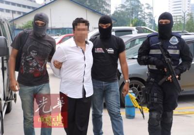 """派出所以4只不同地点逮捕""""伊斯兰国""""(IS)恐怖集团份子。"""