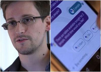 斯诺登(左图)警告网民不设动谷歌Allo。