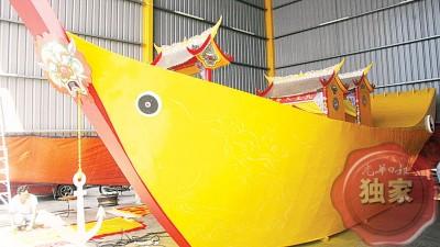 33尺8寸长的大皇船已完成70%。